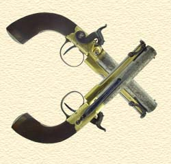 A pair of belt pistols by Benjamin Cogswell
